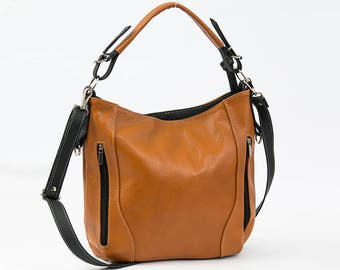 LEATHER HOBO Bag, SHOULDER Bag, Leather Purse, Tan Women's Handbag, Leather Handbag, Everyday Crossbody, Leather Bag, Leather Laptop Bag