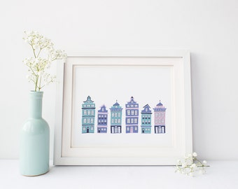 Row House Wall Art (Digital Download)