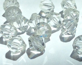 Swarovski Crystal Light Clear crystals 8mm 5301 Bicone beads -12 pieces