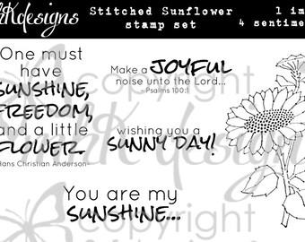 Stitched Sunflower