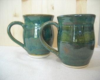 Matching Pair of Turquoise Mugs