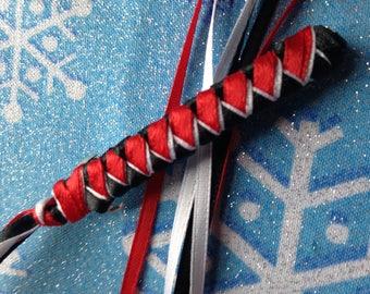 Ribbon Barrette / Red, Black and White