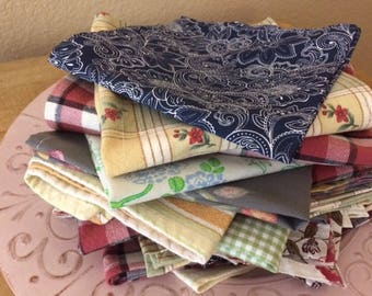 Mismatched Cloth Napkin Set, Events, Parties, Lunchbox, Everyday Meals, Set of 25, by CHOW with ME