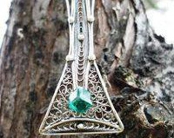 Silver pendant Rivendell
