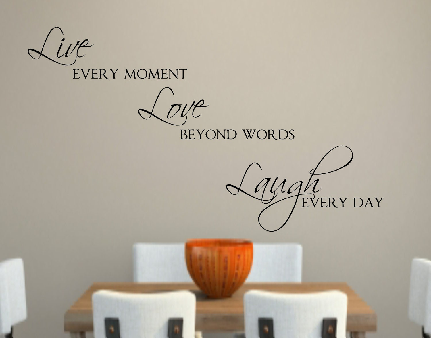 Love Wall Quotes Live Love Laugh Vinyl Wall Decal Decor Lettering Words For The