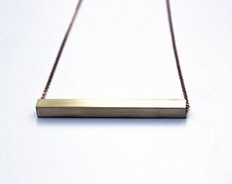 Brass bar necklace, gold bar necklace, bar necklace, brass necklace, minimalist necklace, gold necklace, brass bar, christmas gift, birthday