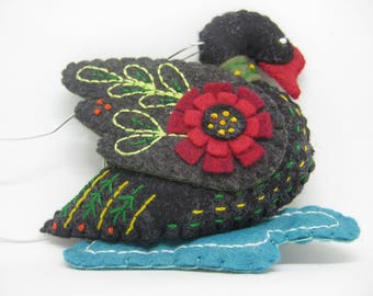 Felt Swan a Swimming from the Twelve Days Collection