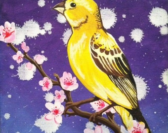 Canary Acrylic Painting 8x10