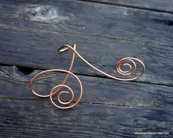 Copper wire art etsy unique copper wire easel for art large table numbers greentooth Image collections