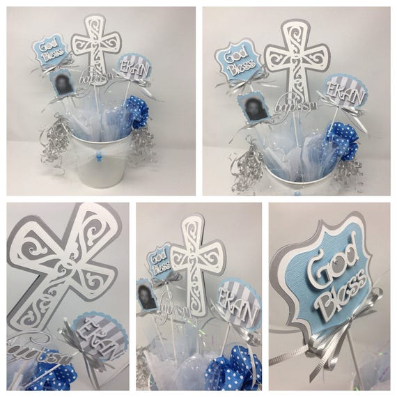 Baptism Centerpiece, Christening Centerpiece,  Table Decoration, Do it Yourself,  Assembly required, Personalized, Creativecraftrooms
