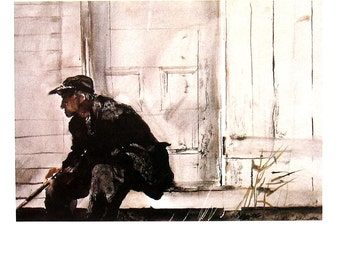 Andrew Wyeth Art - Charlie Ervine - 1992 Vintage Reproduction Book Page - 12 x 9