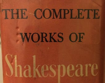 """1936 Hardcover Book, """"The Complete Works of Shakespeare"""", 1527 Pages"""