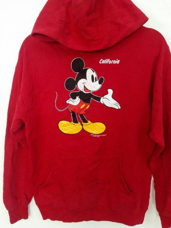 Rare!! Vintage 90s Mickey Mouse California Cartoon Spellout Pullover Jumper Sweatshirt 5EAYyoPiN1