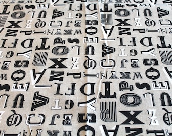 Upholstery fabric letters 65 x 50 cm