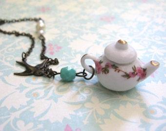 Mini Teapot Brass Necklace