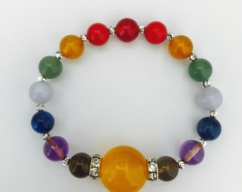 Rainbow Natural Crystals Bracelet Jewelry