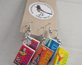 "Roald Dahl Books Earrings from ""The Earring Library"""