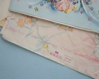 Vintage New Baby Wrapping Paper