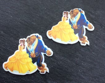 Beauty and the Beast Resin, Beauty and the Beast Cabochon, Belle Resin, Belle Cabochon, Beauty and the Beast Pendent