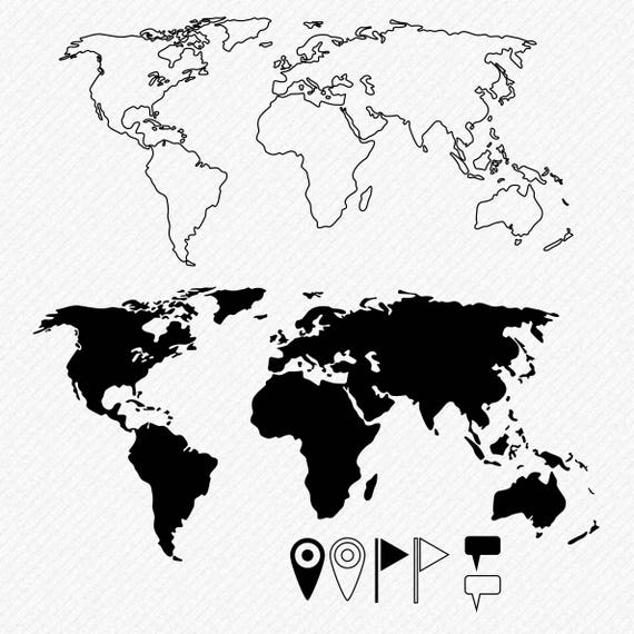 World map svg world map cricut silhouette pins flags textbox world map svg world map cricut silhouette pins flags textbox clipart cut vector digital download svg dxf eps png from printarena on etsy studio gumiabroncs Images