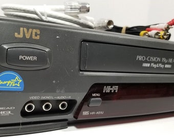 JVC Hr-A51U VCR Player VHS Recorder 19 Micron 4 Head With Cables