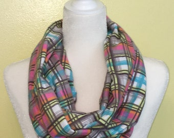 Multi-Colored Flannel Infinity Scarf