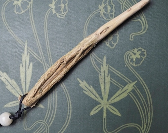Knotted Gorse Wand Pendant for Love Magic - Pagan, Witchcraft, Wicca, Furze, Ogham tree