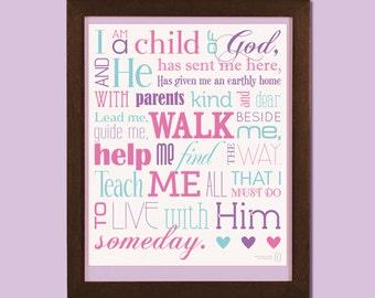 16x20 I Am a Child of God poster - CUSTOM COLORS