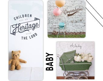 Set of 3 Baby Cards