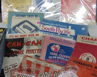 Sunny Side set- vintage sheet music