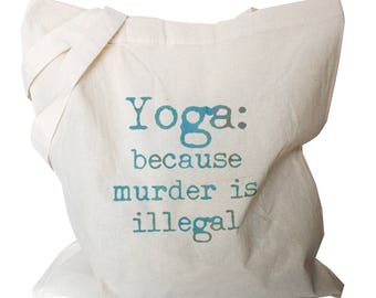 Tote Bags - Yoga Tote Bag - Yoga Totes - Yogi Gifts - Yoga Bag - Yogi Tote Bags - Gifts for Yogi