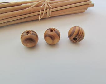 Wood bead, Pearl 6mm, 8mm, 11mm, 16 mm - 70.34
