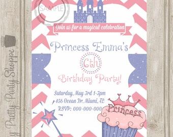 Cupcake Princess Birthday Party Invitation