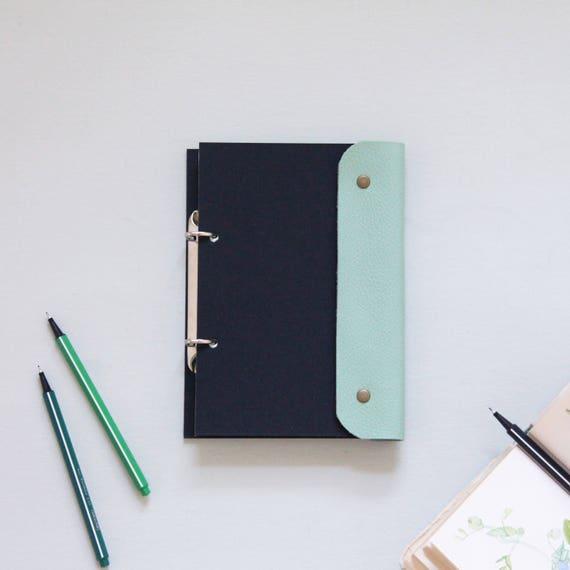 a5 ringbuch leder binder a5 binder ringbuch journal. Black Bedroom Furniture Sets. Home Design Ideas