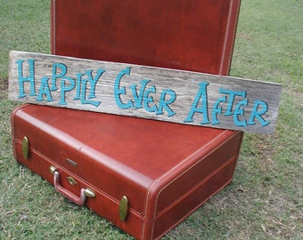 Rustic Wedding Sign / Rustic Happily Ever After / Rustic Home Decor / Happily Ever After / Country Wedding Decorations