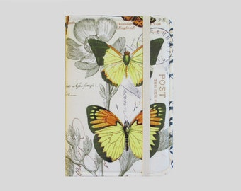 Kindle Cover Hardcover, Kindle Case, eReader, Kobo, Kindle Voyage, Kindle Fire HD 6 7, Kindle Paperwhite, Nook GlowLight Butterfly Journal