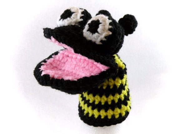 Buzzy Bee Little Kid's Hand Puppet - Made Just For Tiny Hands!