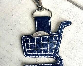 Shopping cart, quarter holder, keychain
