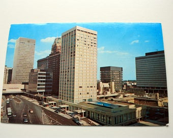 Statler Hilton Baltimore Postcard  1968 / Baltimore Maryland Postcard / Vintage Hotel Postcard