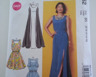 Maxi Dress/ Long/sleeveless /sexy/ summer /cruise /casual dress 2014 sewing pattern, Bust 31 32 34 36 38, Size 8 10 12 14 16, McCalls M 6952