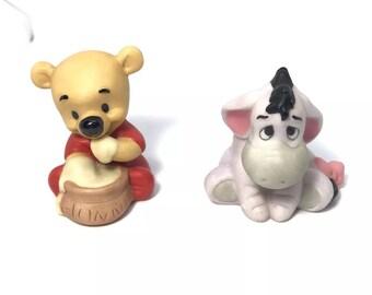 Disney Baby Winnie The Pooh and Eeyore Ceramic Porcelain Figures
