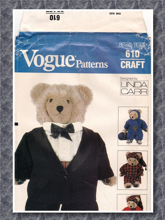 FF 80s Vogue Teddy Bear Clothes for Vogue 8658 and 569 Vintage ...