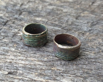 Bronze Wrapped  Beads
