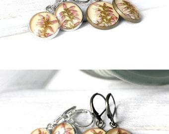 Charm earrings Yellow dangle earrings Boho earrings Fashion earrings jewelry Vegan gift for womens Everyday earrings flower jewelry for wife