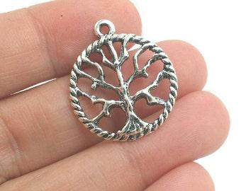 BULK 30 Tree of Life Charms, Tree Charms, Plant Charms, Bulk Charms (5-1201)