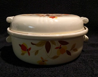 Hall's Superior Jewel Tea Autumn Leaf 2qt Covered Casserole Dish