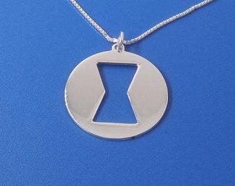 Black widow symbol necklace Black widow necklace hourglass necklace hour glass necklace