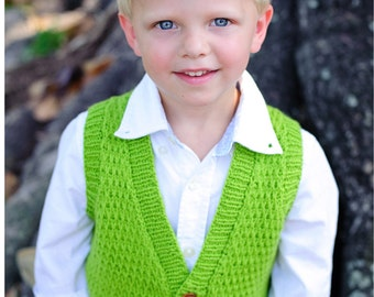 make your own Tycoon Vest (DIGITAL KNITTING PATTERN) baby toddler child tween boy