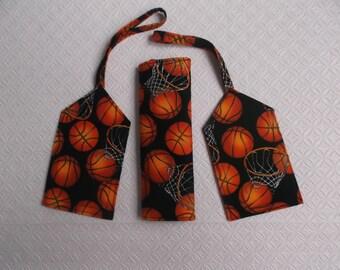 New Price - Basketball Luggage Tag and Handle Wrap Set