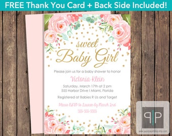 Baby shower invitation etsy instant download roses baby shower invitation editable pink roses baby shower invitation printable girl filmwisefo